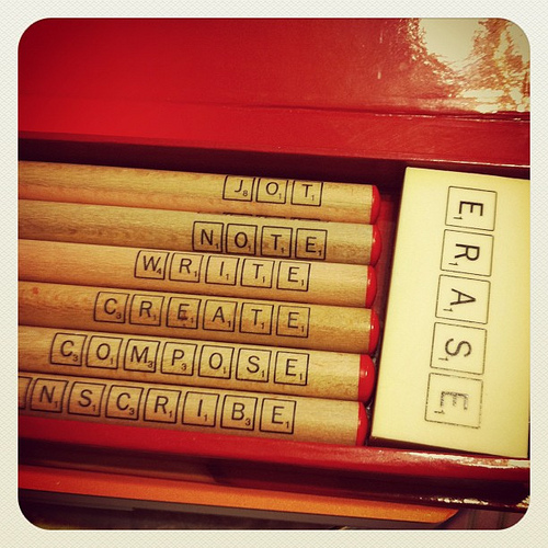 scrabble pencil set from this month's lost crate