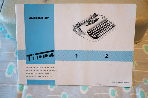 The Adler Tippa manual