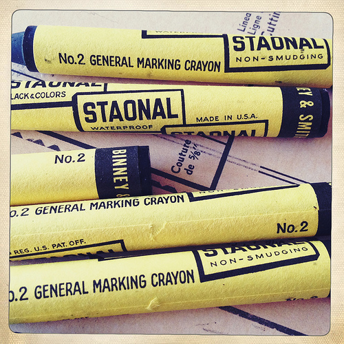 Staonal marking crayons