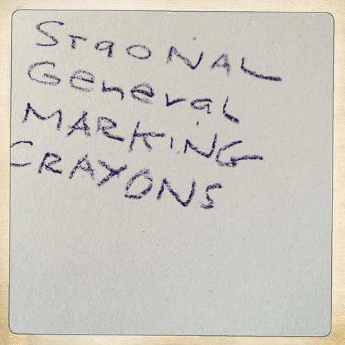Testing the Staonal marking crayons