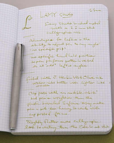 Lamy writing test