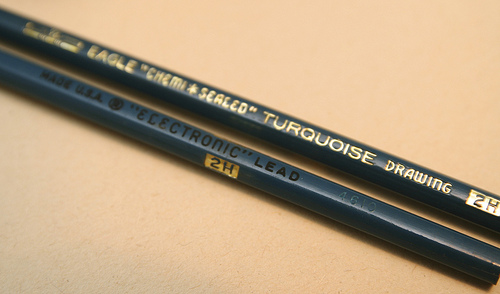 Pencil foil stamping