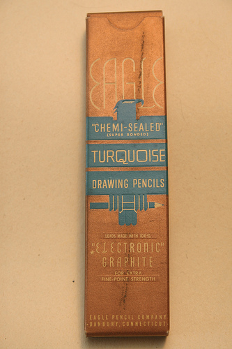 Vintage Eagle Turquoise Drawing Pencils