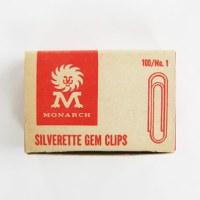 Vintage Monarch Silverette Gem Paper Clips