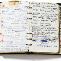 A peek at notebooks of artists and authors
