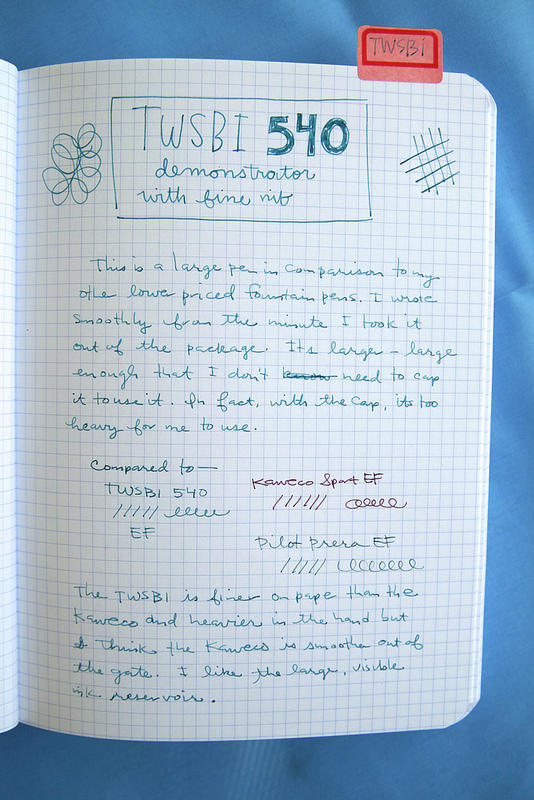 TWSBI 540 writing sample