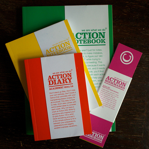 Action paper goods