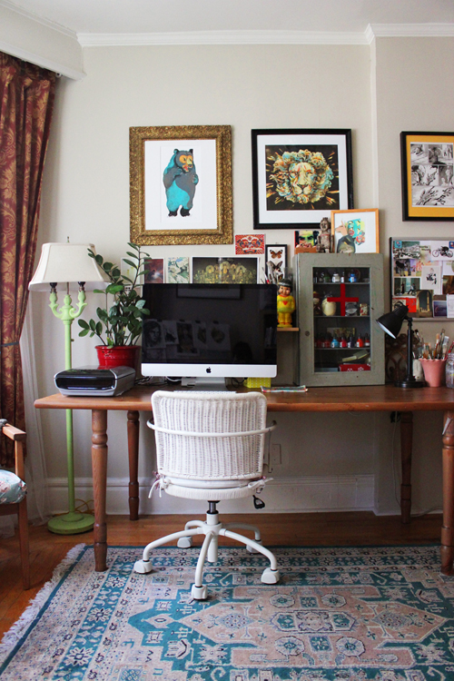 Jacqui oakley s workspace the well appointed desk for Home decor quirky