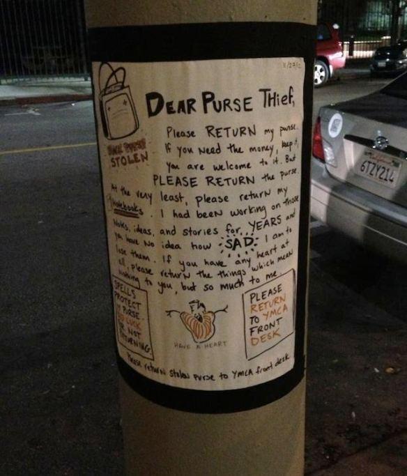 dear purse thief