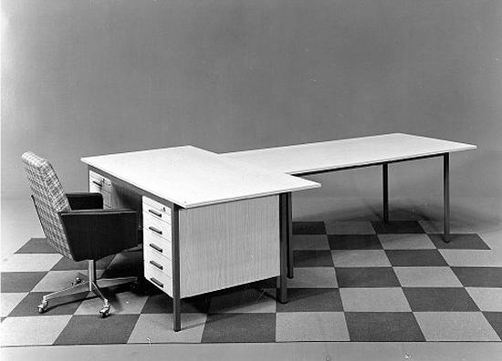 Swanky mid-century desk via Present + Correct