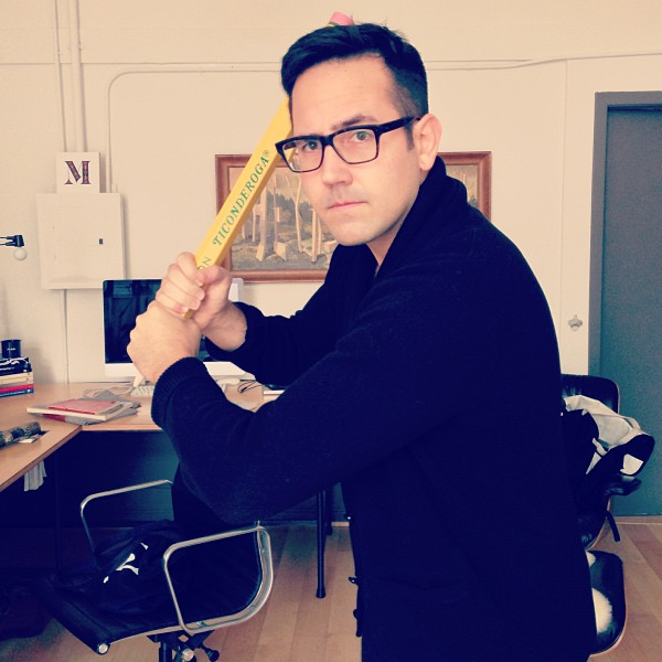 @erikmarinovich has a huge pencil (via jessicahische on Instagram)