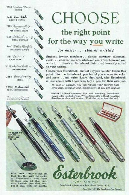 Esterbrook Ad #2