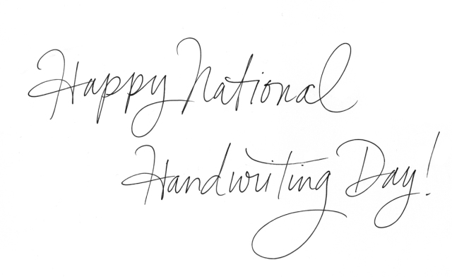 Actual handwriting from Hallmark lettering artist Sarah Cole