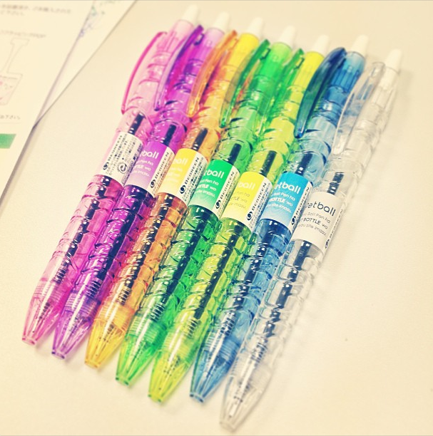 Pilot Petball (AKA B2P or BeGreen) pensin various colors coming out soon. Photo by Patrick Ng.