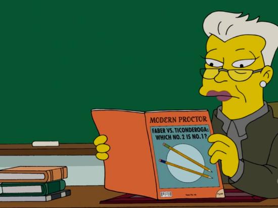 Pencils on The Simpsons (via Pencil Revolution)