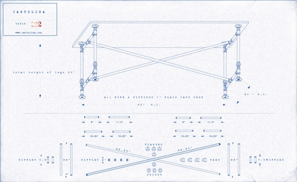 Desk plans blueprint