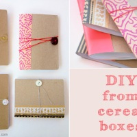 DIY Cereal Notebooks