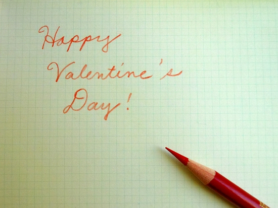 Colored pencil Valentine's greeting from Pencil Revolution