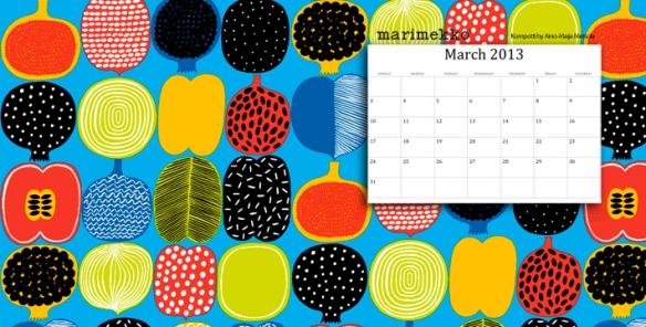Marimekko Wallpeper Calendar