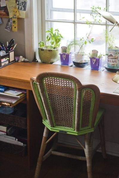 (Grace Townley's tiny workspace. Photo by Jennifer Hack/Ink)
