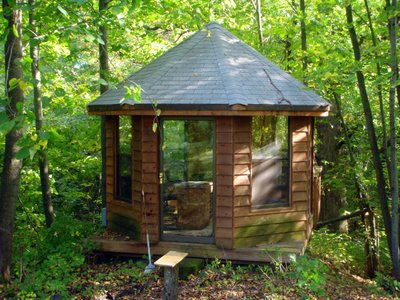 Neil Gaiman's writing hut