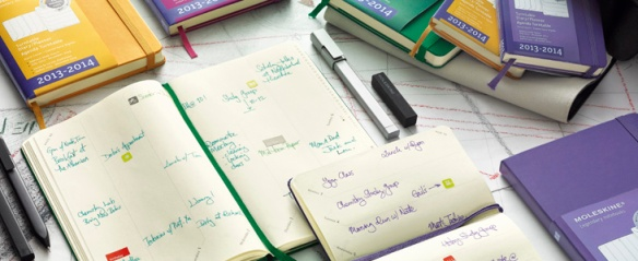 Moleskine Turntable Planner in use