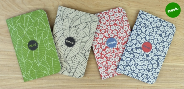Word Notebooks have four new cover designs that can be mixed and matched with their existing designs to make your own pack of 3.