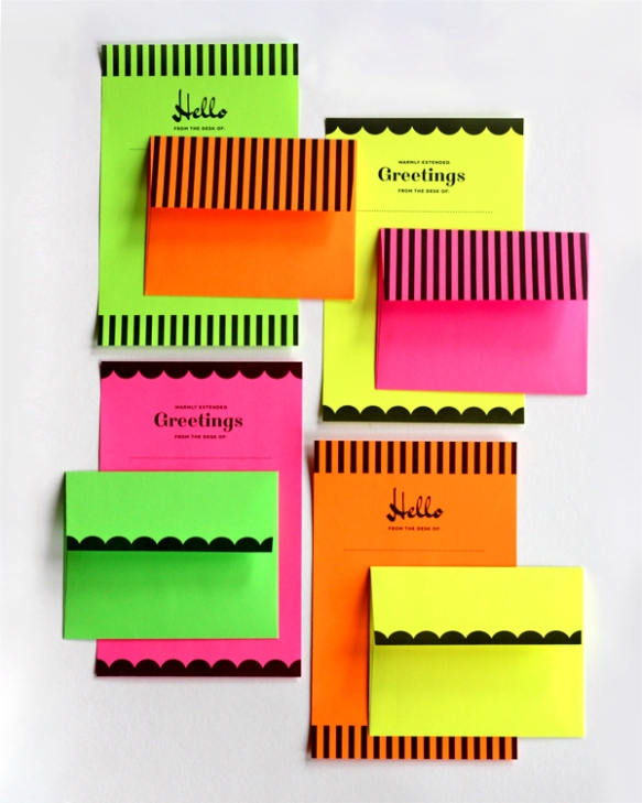 printable neon stationery