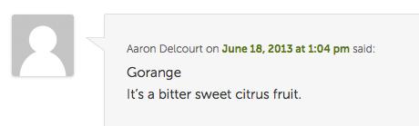 orange winner comment