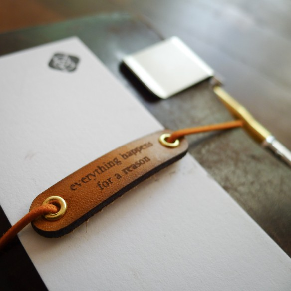 Leather Traveler's Notebook Charm from Baum-Kitchen