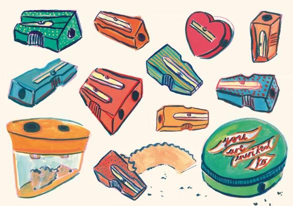 Jayde Perkin Pencil Sharpener Illustration