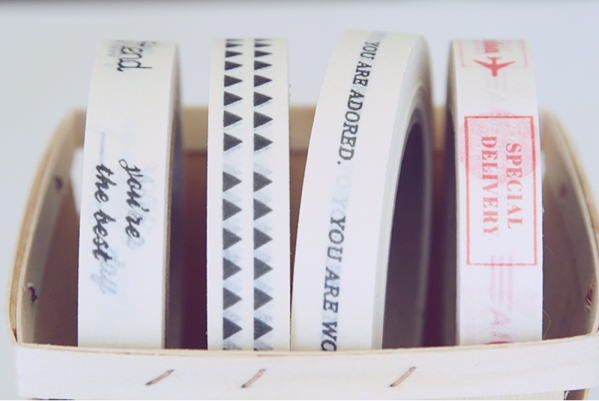 Paper Message Tape (via Oh, Hello Friend)