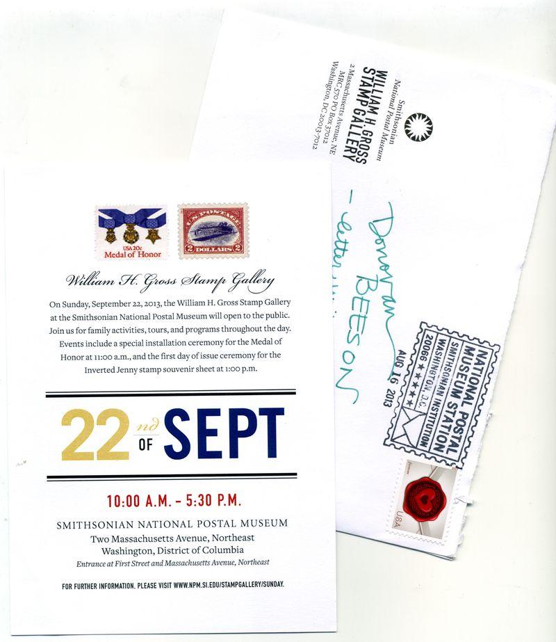 Postal Museum Gallery Opening Flyer