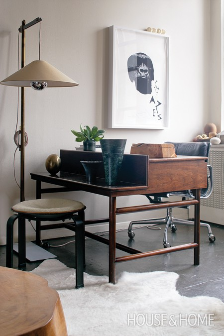 Brad Ford's Secondary Workspace (via Canadian House & Home)