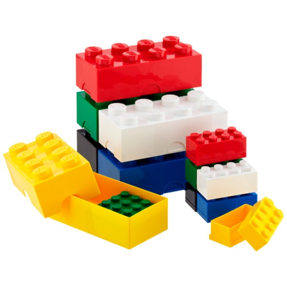 Assorted sizes Lego boxes $5-15 (via Container Store)