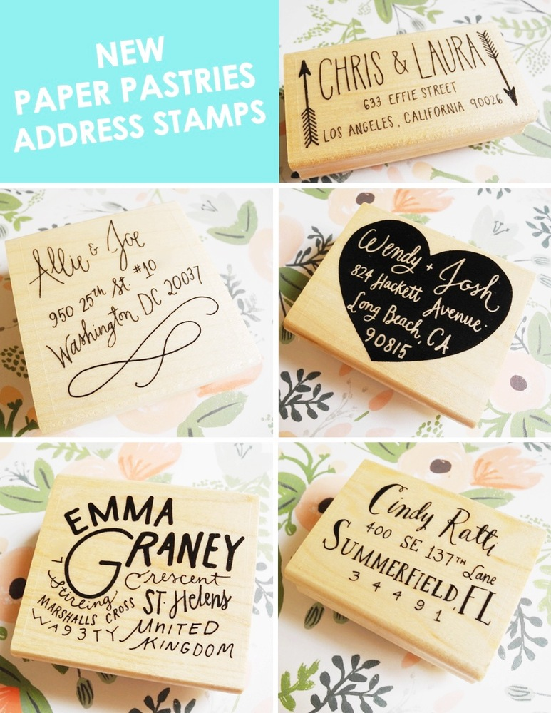 Paper Pastries Address Stamp
