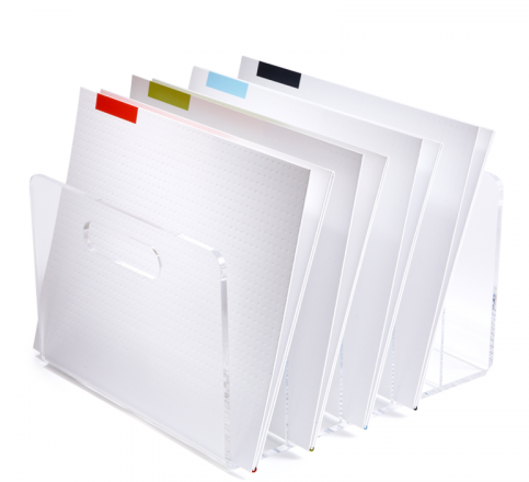 clear acrylic file collator $44 (via Russell + Hazel)