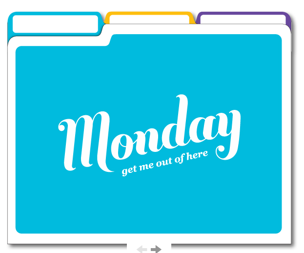 Day of the Week File Folders $9 (via KnockKnock)