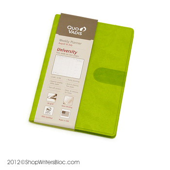 "This is the 4x6"" academic planner from Quo Vadis, available at ShopWritersBloc"