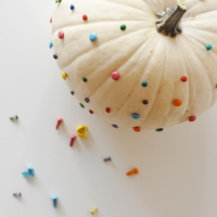 Pumpkin Decorating with Office Supplies