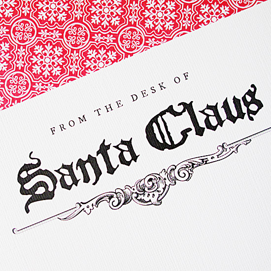 free Santa Claus stationery