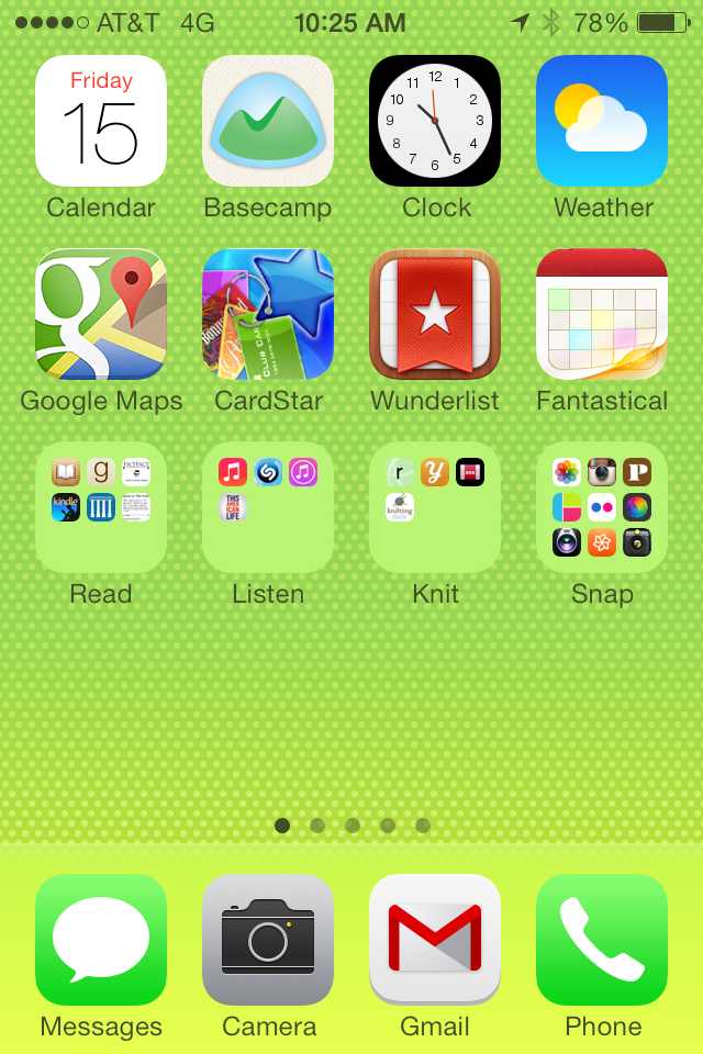 my iPhone home page
