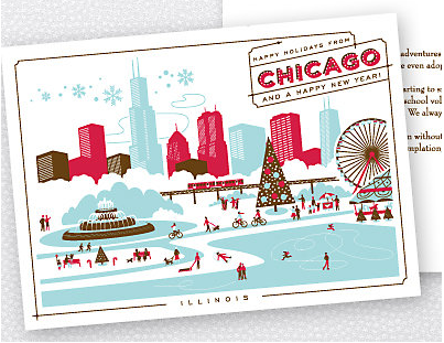 Hello Lucky Chicago Card