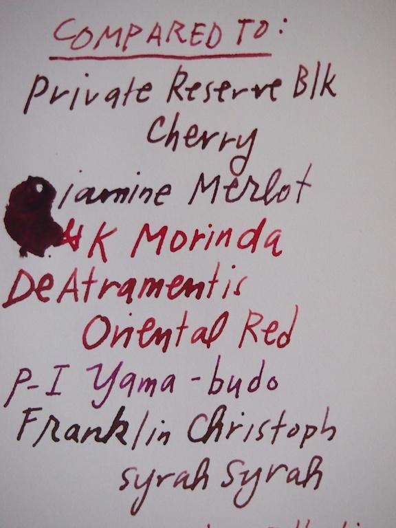 Diamine Red Dragon comparison