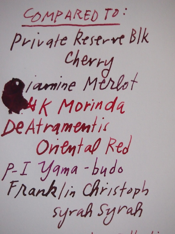 Diamine Red Dragon comparison
