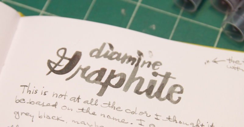 Diamine Graphite ink review