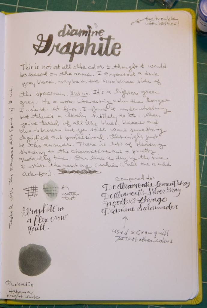 Diamine Graphite writing sample