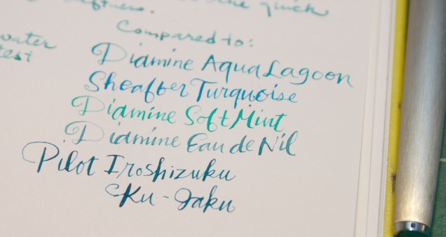 De Atramentis Pigeon Blue ink comparisons