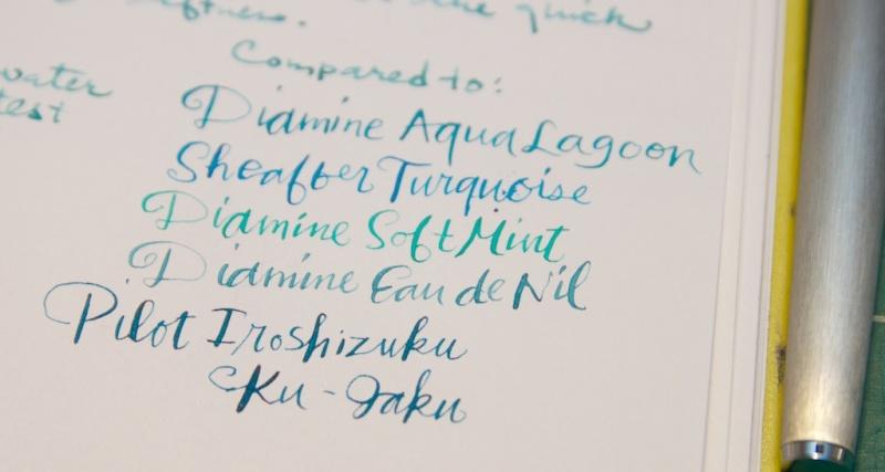 De Atramentis Pigeon Blue ink comparisons