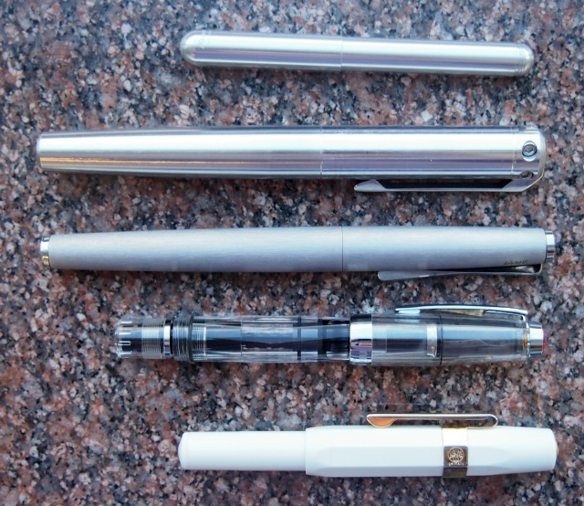 Karas Kustoms Ink Fountain Pen size comparison